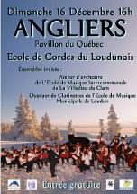 L' Orchestre d'Harmonie Municipal de Lencloître (derection : Jean-Marie Dazas), la Classe de Violon de valériya Lebedeva (Consevatoire de Musique à Rayonnement Intercommunal de Lencloitre, et l'Orchestyre de l'Ecole de Cordes du Loudunais, en Concert au Centre Culturel René Monory de Louduna , le 15 Avril 2012.